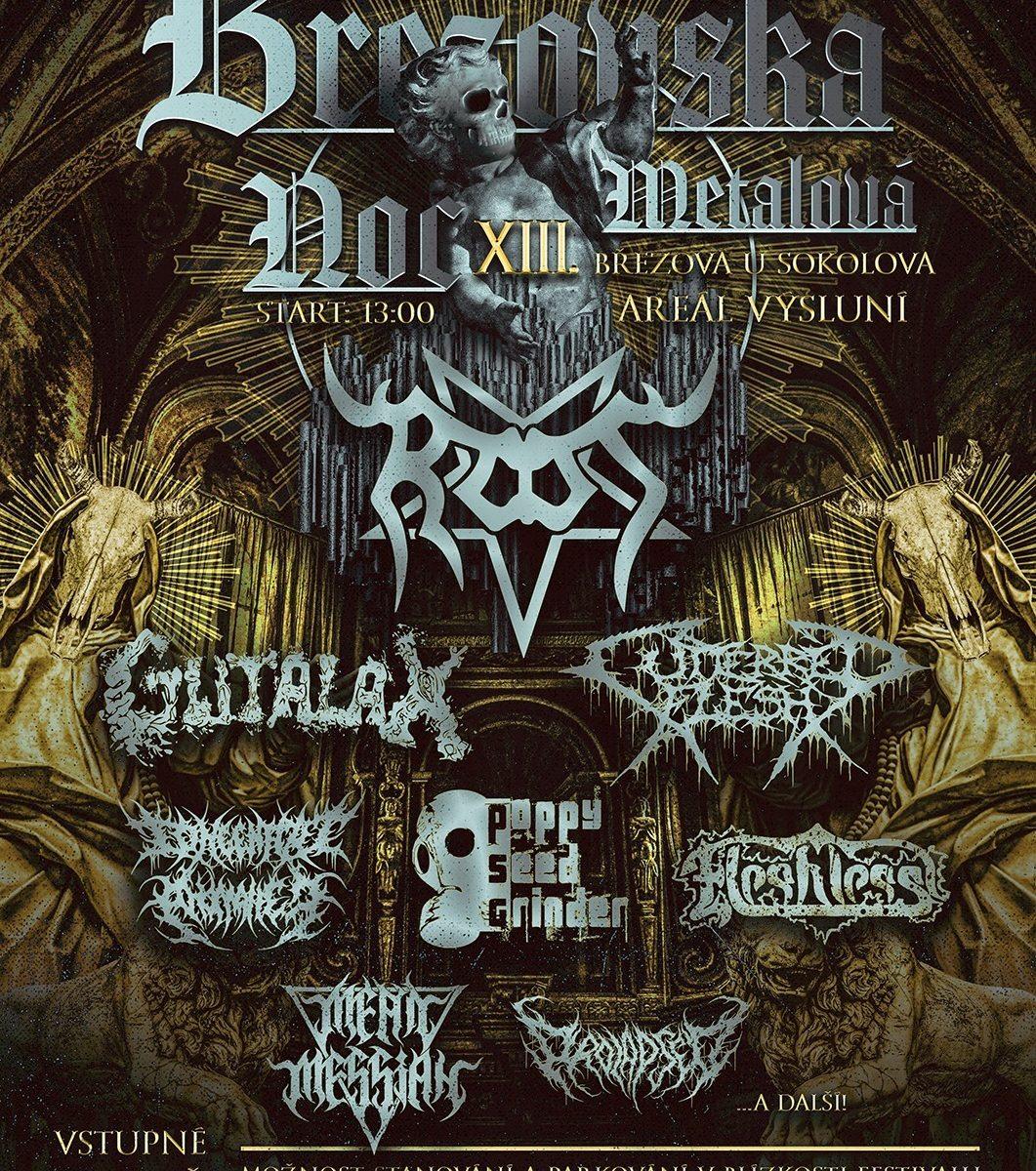 Březovská metalová noc poster