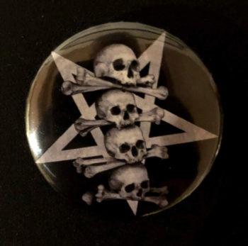 Pentaskull button 35 mm