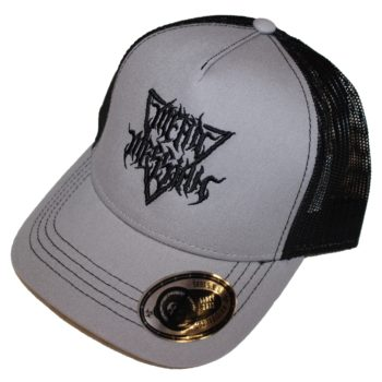 Trucker hat Gray with Black Mean Messiah logo